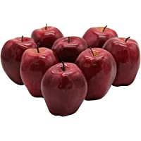 YOFIT Artificial Apple Fake Fruit for Home Kitchen Decoration,8 Pack