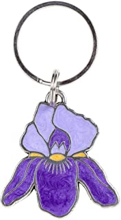 product image for DANFORTH - Purple Iris Keyring - 2 Inches Tall - Purple - Handpainted - Made in The USA