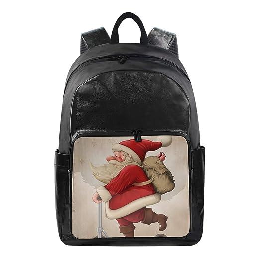 DEZIRO - Mochila de lona con diseño de Papá Noel y el ...