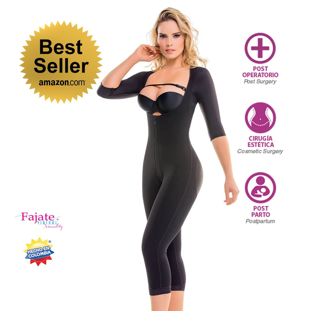 Fajate Colombian Shapewear 295 - Top-to-Bottom Arms and Legs Full Body Shaper
