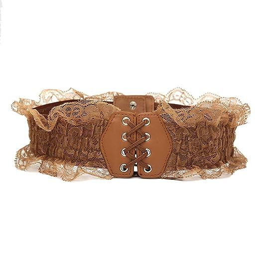 Emorias 1 Pcs Cinturón de Falda Mujer Encaje Patrón Vestido ...