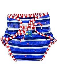 Kushies Baby Unisex Swim Diaper - Medium,Ahoy Print,Medium,