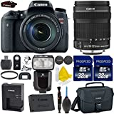 Canon EOS Rebel T6s 24.2MP Digital SLR Camera + Canon EF-S 18-135mm IS STM + 2pc High Speed 32GB Memory Cards + UV Filter + TTL Flash + Cleaning Kit + 9pc Accessory Kit