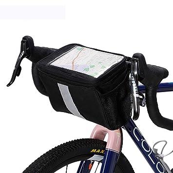 Manillar Mapa GPS Portateléfono Bolsas De Ciclo Accesorios Para Ciclismo Accesorios Para Bicicleta Bolsillo Impermeable Raya Reflectante Ciclismo Equipaje ...