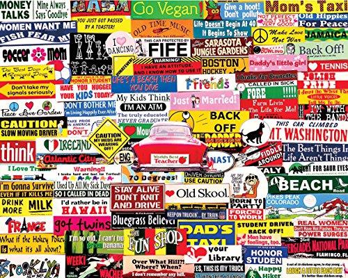 White Mountain Puzzles Bumper Stickers - 1000 Piece Jigsaw P