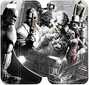 Fashion Style Batman harley quinn and joker Phone case Thin Slim Flip Leather Case Cover For iPhone 6 4.7 inch OOL2962960