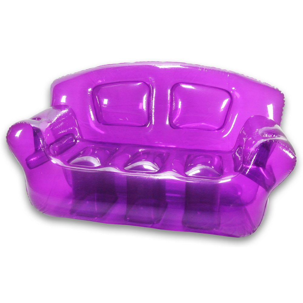 Inflatable bubble couch perfect purple amazon co uk kitchen home