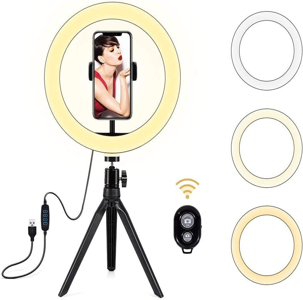RMXMY Live LED Ring Light Dimmable Anchor Live Broadcast Fill Light Makeup Self-Timer Fill Light Stepless Brightening Color : B