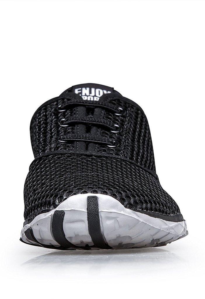 165dd7f5b2e8c Zapatos de agua de secado rápido con cordones de malla para hombres Zapatos  para caminar de moda ligeros y transpirables Negro