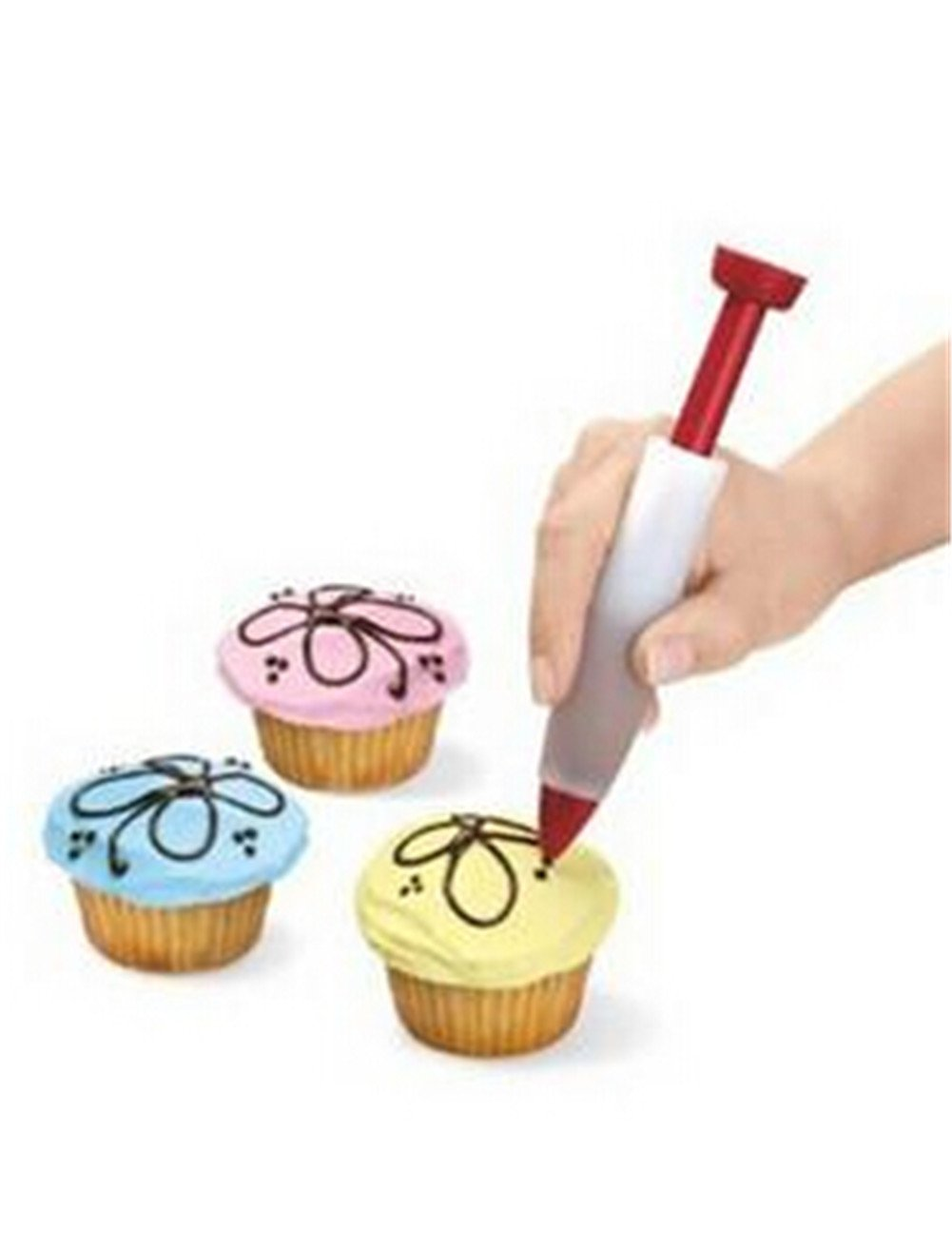 HENGSONG Homemade Cake Tools Pastry Biscuits Cream Chocolate Icing Decoration Pen Silicone