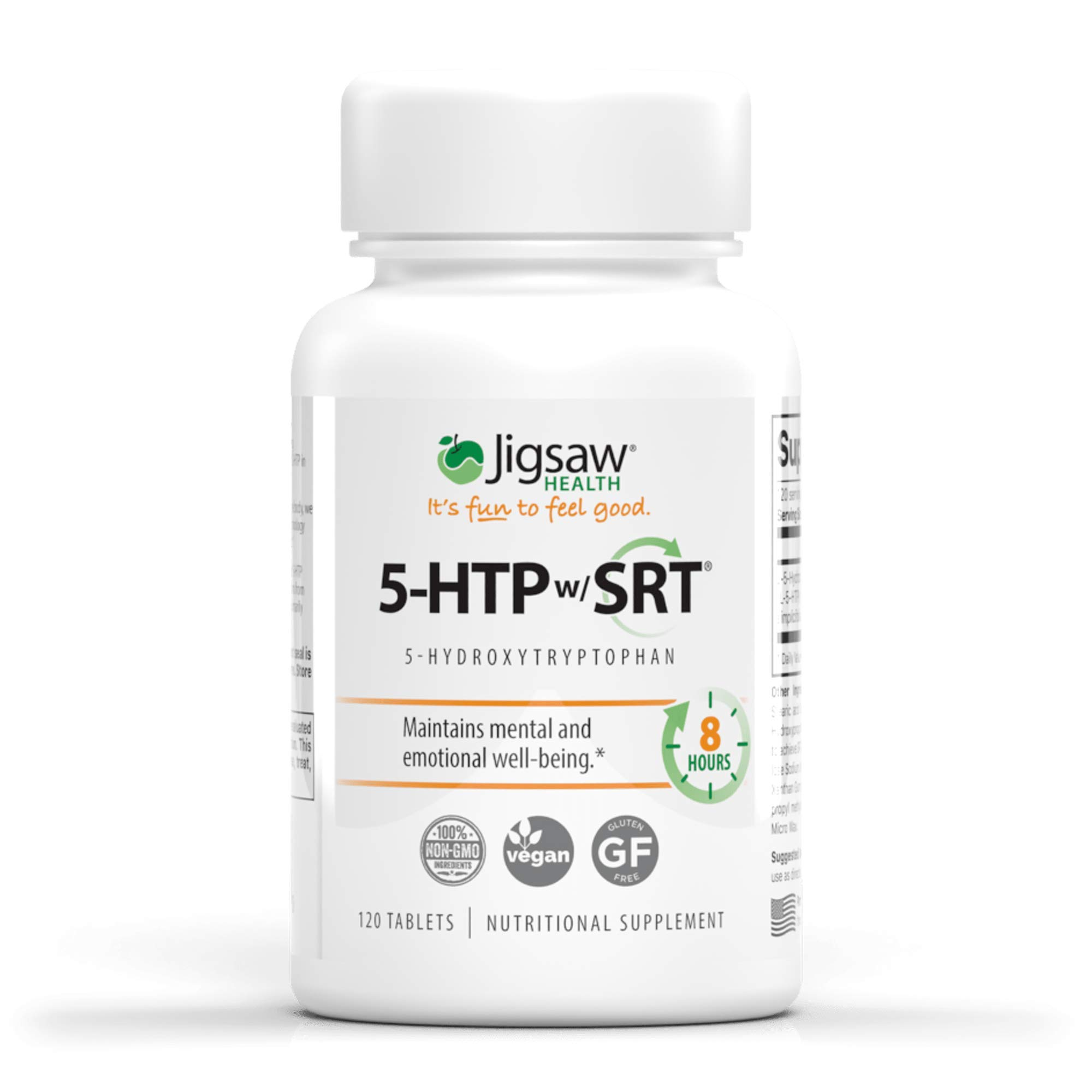Jigsaw Health - 5-HTP Slow Release - Helps Improve Mood, Emotional Balance, and Sleep Quality utilizing only The purest Form of 5-HTP - 100mg Capsules - 120 Count