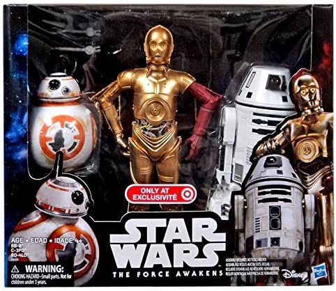 STAR WARS THE FORCE AWAKENS 12in DROID 3 PACK C-3PO BB-8 RO-4LO EXCLUSIVE