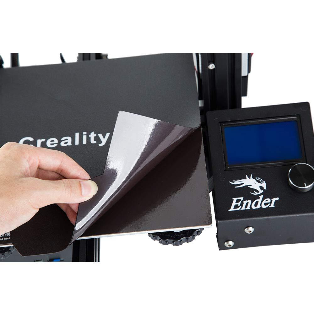 Ender 5 Ender 3X CR-20 Sovol Creality Ender 3 Flexible Magnetic Build Plate Magnetic Bed Build Surface for Ender 3 Pro