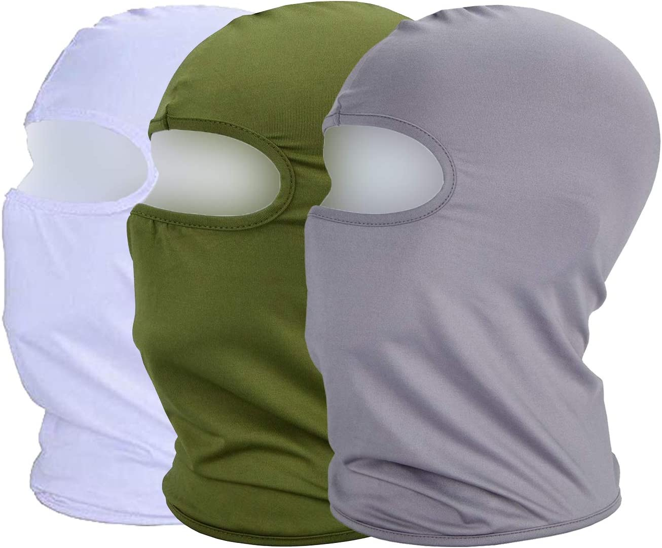 MAYOUTH Maschera Viso Estivo Passamontagna UV//Sole Protezione Polvere Sottile Traspirante Tessuto Elastico Antivento Ciclismo Sport Outdoor Full Face Mask Confezione da 3