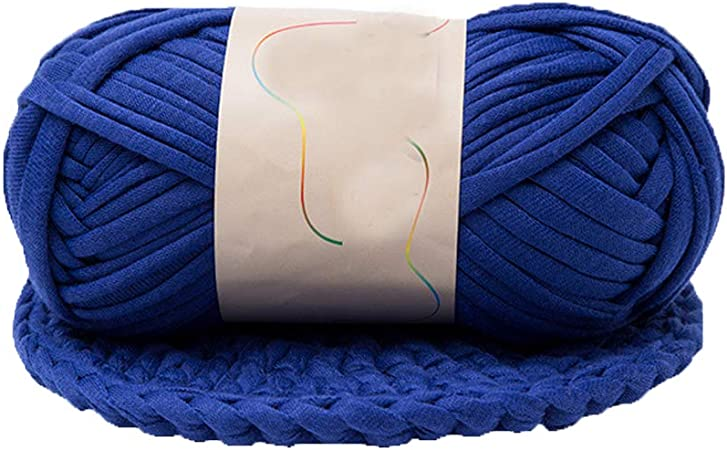 crochet yarn home textile yarn basket yarn baby Moses basket yarn Blue T-shirt Yarn Recyled Fabric yarn 700-800 grams Cotton Yarn