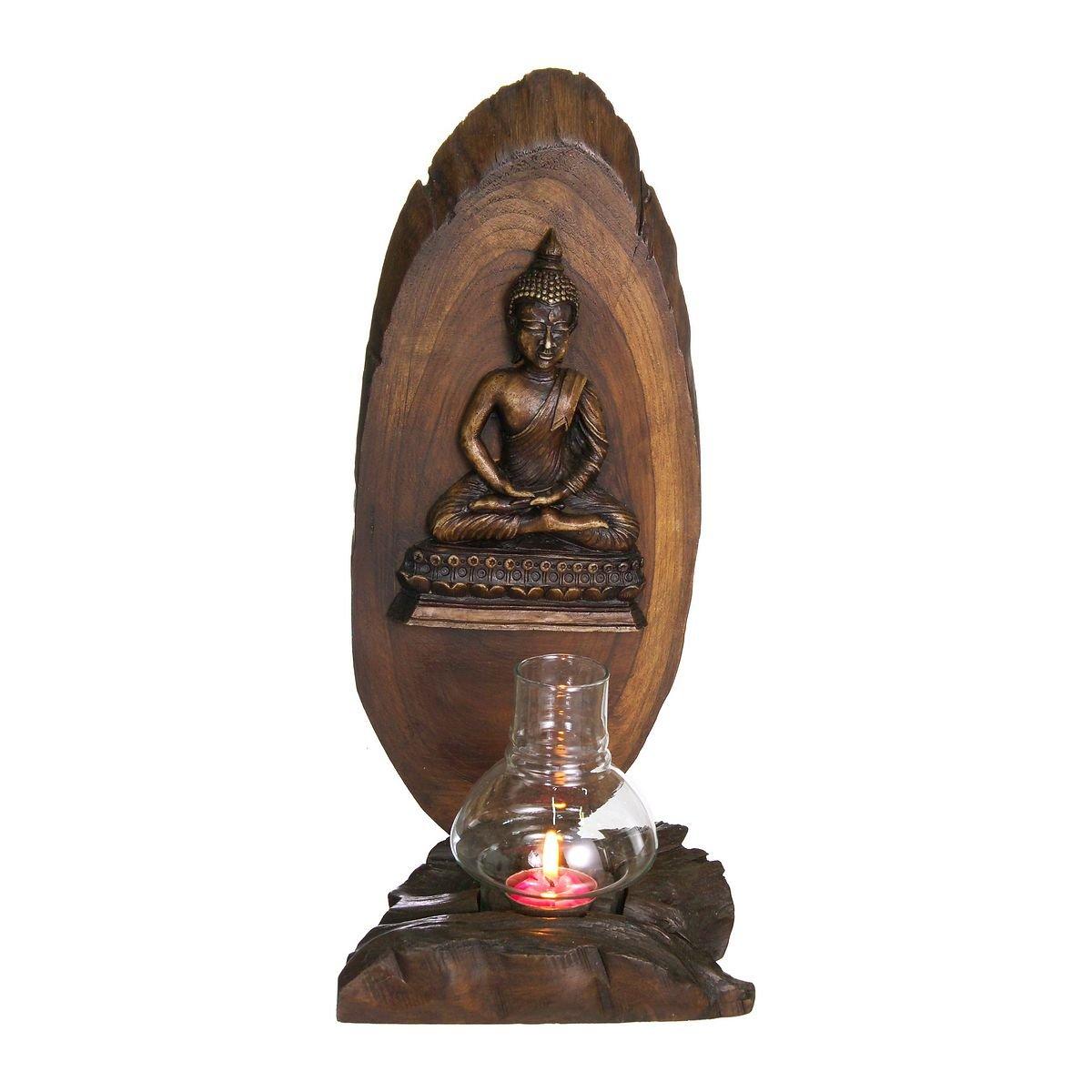 Discount etnicoPhotophore bouddha avec bougie chauffe-plat, 40x 17cm