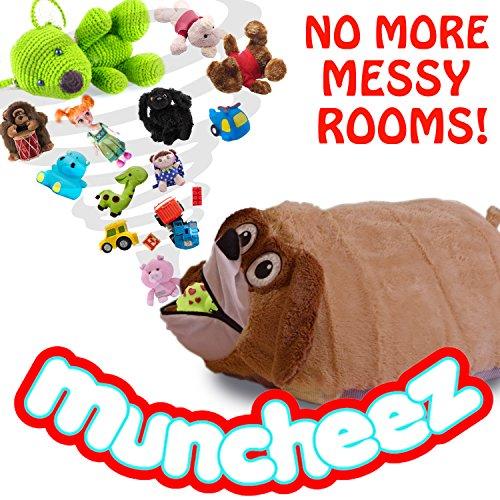 Muncheez Puppy Stuffed Animal & Coolest Toy Organizer For Children - Plush & Cuddly Toy Storage Solution For Kids