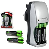 LLOYTRON Ni-MH PLUG-IN BATTERY CHARGER & 2 x 800 mAh AAA RECHARGEABLE AA BATTERIES