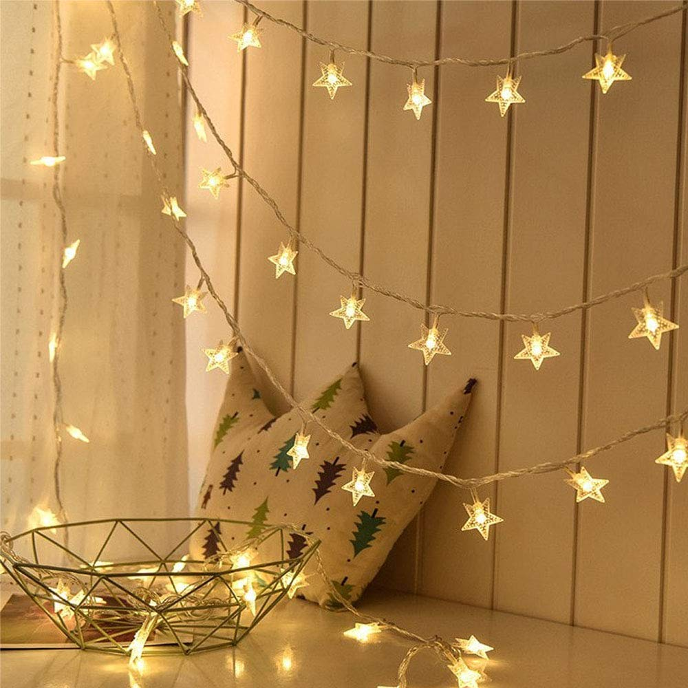 Buy Amazonwala Star Led Decorative Lights For Home And Garden Led Lights Diwali Decorations Items Fairy Star String Led Lights For Party And Wedding Gold Online At Low Prices In India