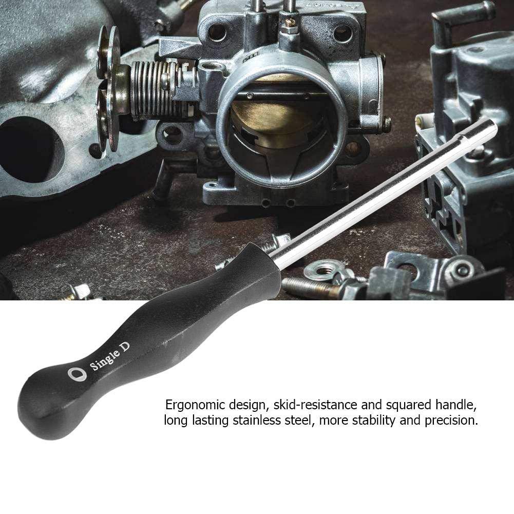 KIMISS Destornillador de ajuste del carburador Herramienta de servicio de ajuste de carburador para el Motor com/ún del carburador de 2 ciclos 21 dientes afilados