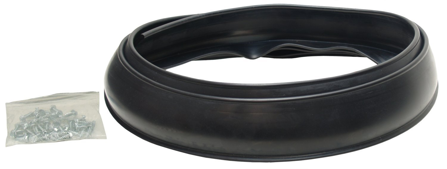 Pacer Performance 52-170 Flexy Flares Black 2-1/2' x 58' Heavy Duty No-Lip Rubber Fender Extension Kit - 2 Piece