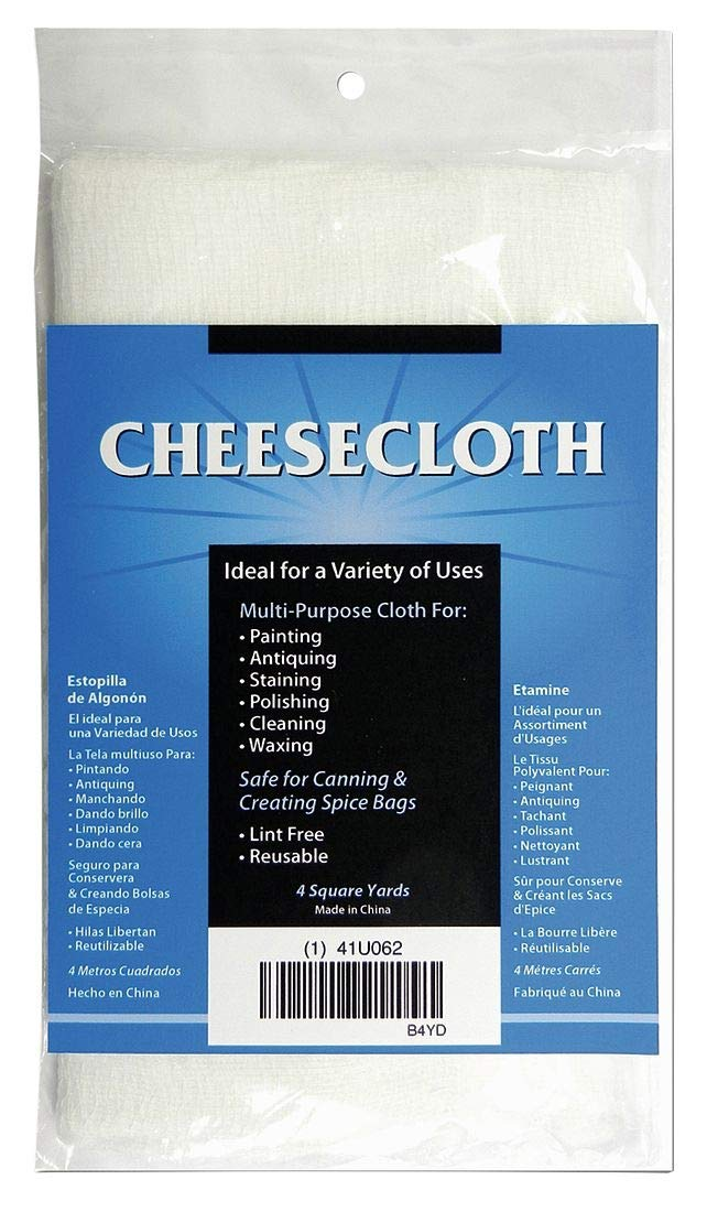 Cheesecloth 20/12, Bleached Grade 10, 4yd.: Amazon.com ...