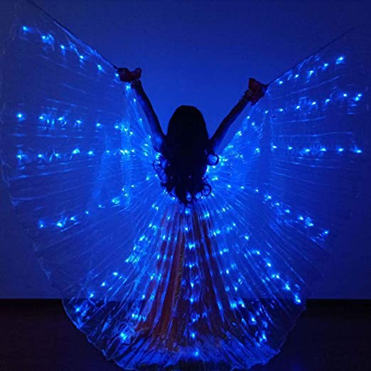 Smilikee Led Dance Wings, Glow Light Up Disfraces de danza del ...