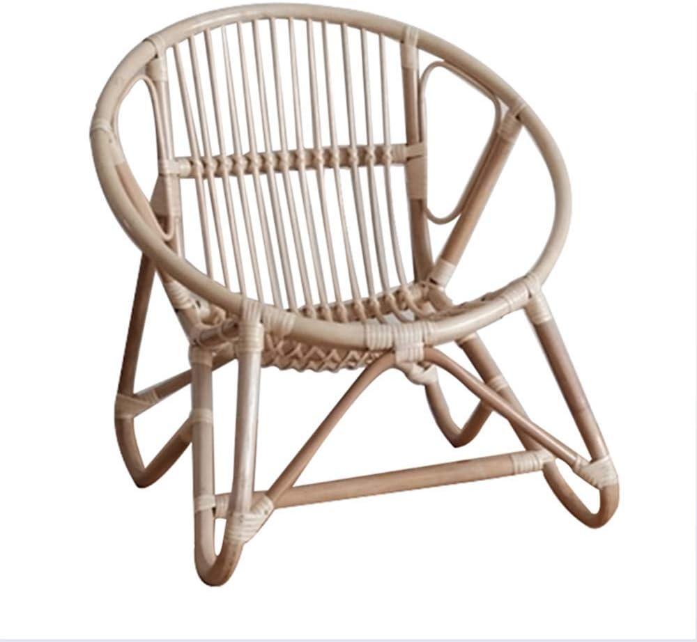 Armchair Rattan Chair Modern Handmade Woven Chair Indonesian Real Rattan Chair Small Chair for Childrens Room Decoration