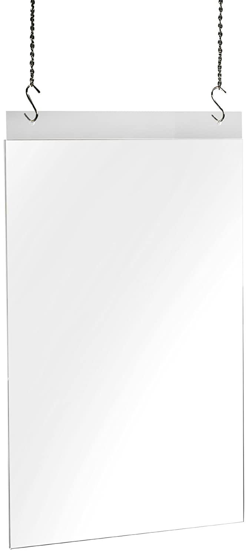 accrilico Sigel TA241 Porta-avvisi // Porta-stampati da parete con 2 fori per A4 orizzontale trasparente