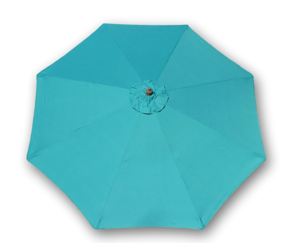 Formosa Covers 9ft Umbrella Replacement Canopy 8 Ribs in Turquoise Olefin Canopy Only