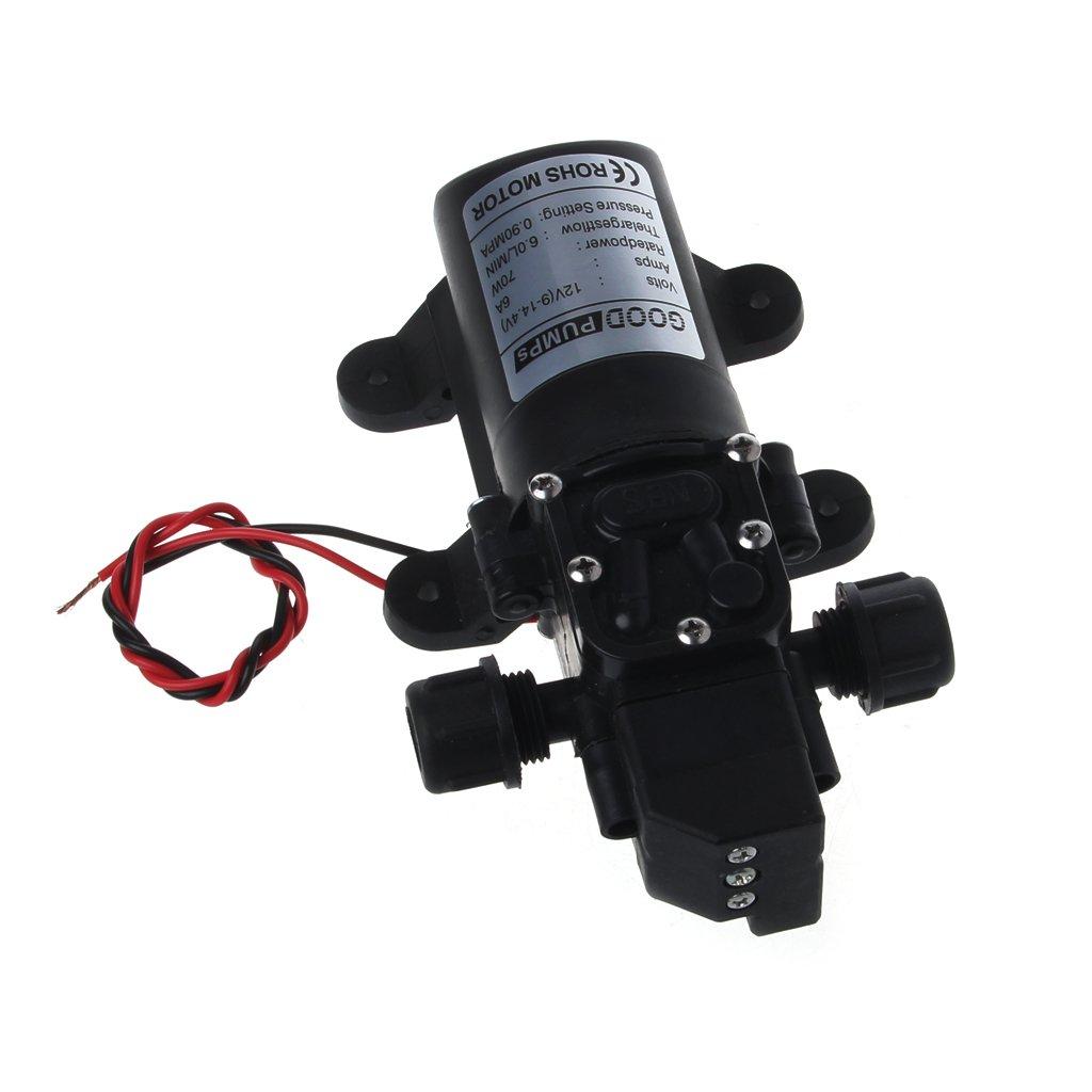 fxco DC 12/V 130PSI 6L//min Water High Pressure Diaphragm Self Priming Pump 70/W