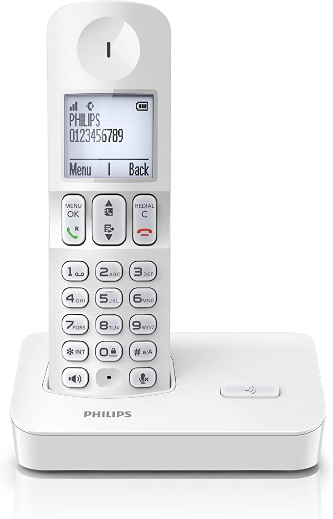 Philips D400XWC/FR - Teléfono fijo inalámbrico (con modo silencio) (importado): Amazon.es: Electrónica