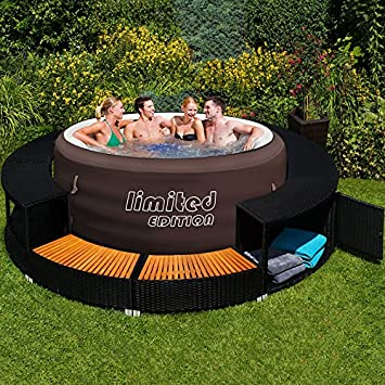 Bestway LAY Z SPA Jacuzzi Whirlpool + Pool Border With Trim