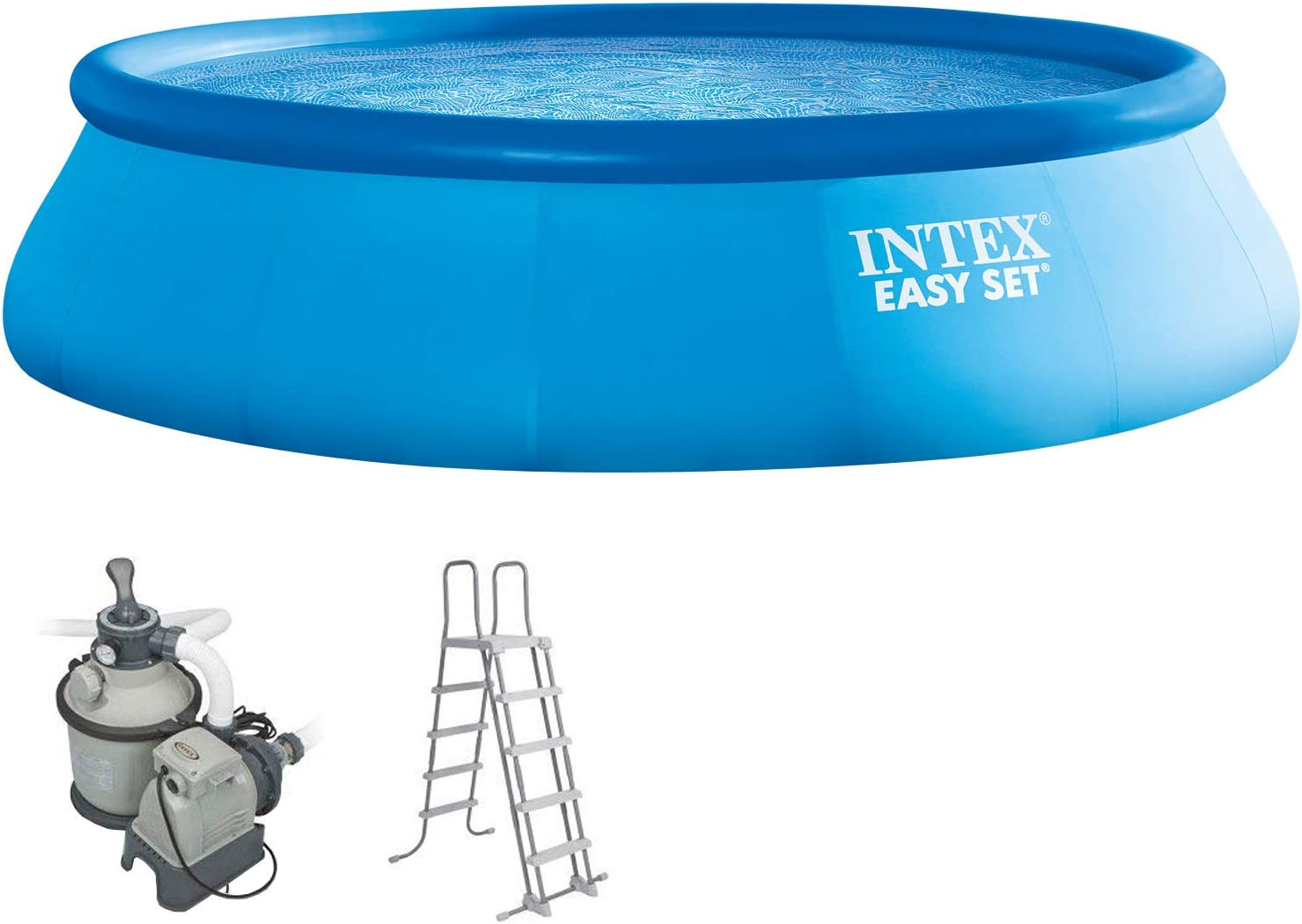 Intex 549 x 132 cm Easy Kit compuesto por swimming de Pool, filtro de arena y bomba de piscina de escalera 289034: Amazon.es: Jardín