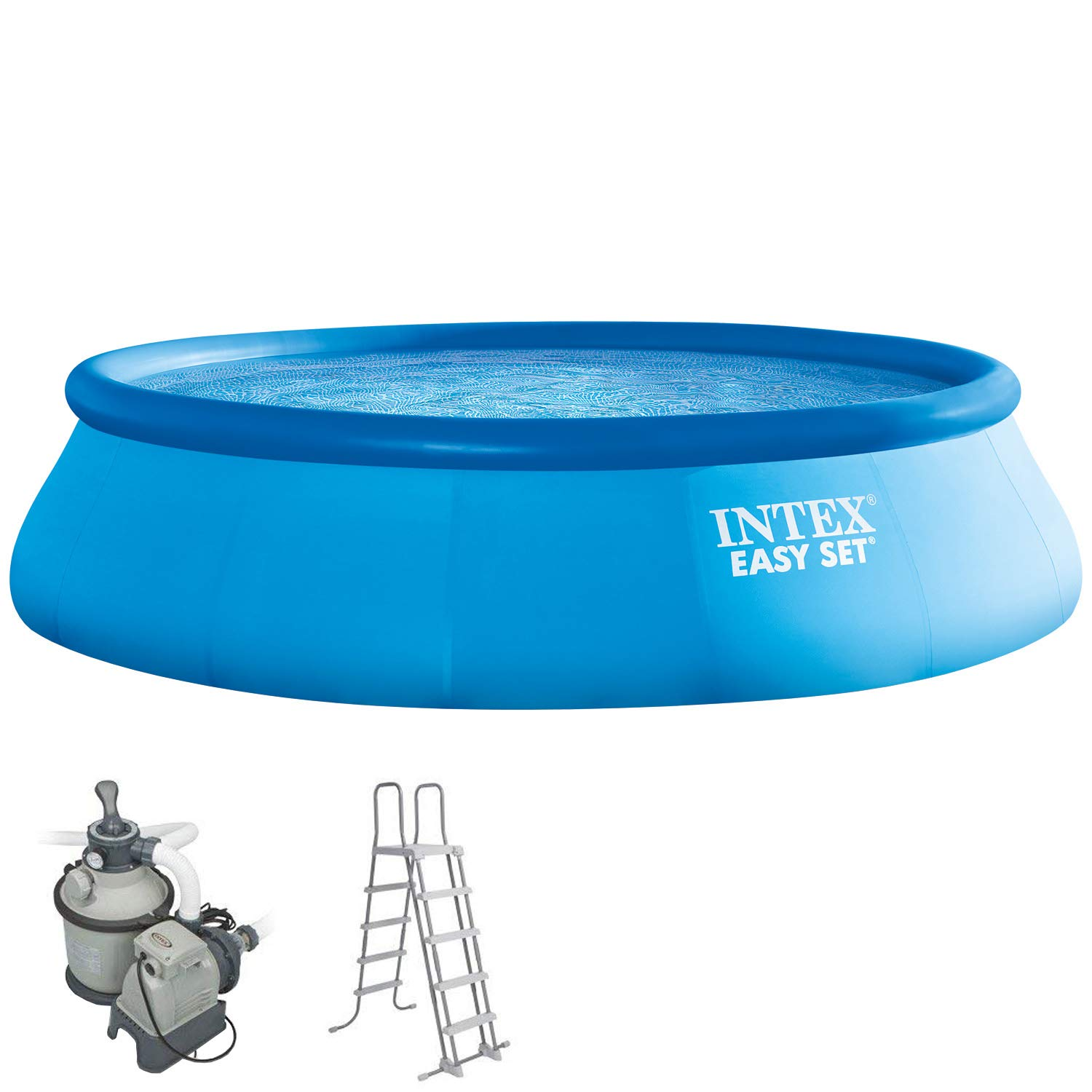 Intex 549 x 132 cm Easy Kit compuesto por swimming de Pool, filtro ...