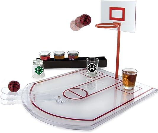 Juego de vasos diseño de cancha de baloncesto, 6 vasos de cristal para chupito: Amazon.es: Hogar