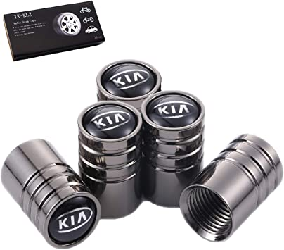 TK-KLZ 4Pcs Chrome Car Tire Valve Stem Caps for Kia SPORTAGE-R Sorento Rio Sorento CERATO K3 Optima K9 KX3 KX5 KX7 KX Cross Decorative Accessories