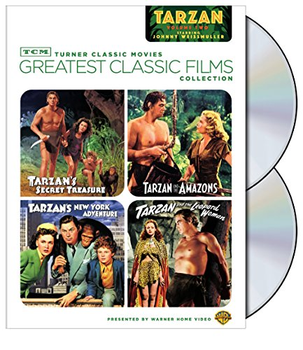 TCM Greatest Classic Films Collection: Tarzan, Vol. 2 (Tarzan's Secret Treasure / Tarzan and the Amazons / Tarzan's New York Adventure / Tarzan and the Leopard Woman) by Warner Home Video
