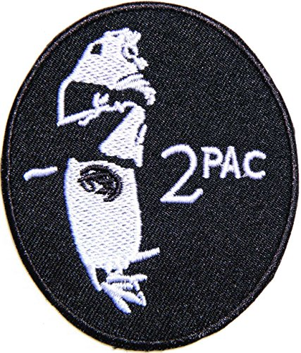 2PAC TUPAC Heavy Metal Hip Hop Rock Rockabilly Music Band Patch Iron on Sew Embroidered Applique Craft Clothing Costume Gift Collection (2.5