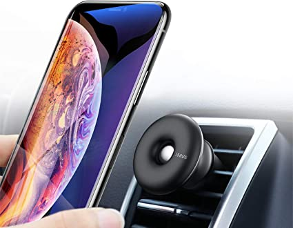 Baseus Universal 360/°Cell Phone Holder for Car Air Vent Cell Phone Cradle Mount Compatible with All iPhone Lg and Samsung Note Galaxy Plus Series and More Black Magnetic Phone Car Mount