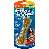 Hartz Chew N' Clean Dental Duo Dog Chew Toy Bacon Flavor, Medium 1 ea(Pack of 18)