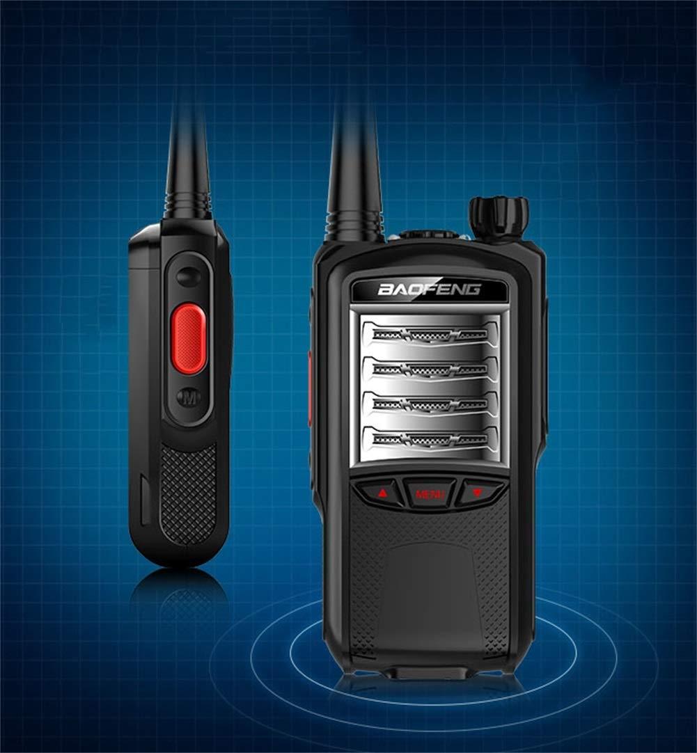 HDJ Walkie Talkies,6000mAh Outdoor 10 Km Waterproof Engineering Property Civil Use Walkie (Black, 1 Pair) by HDJ (Image #4)