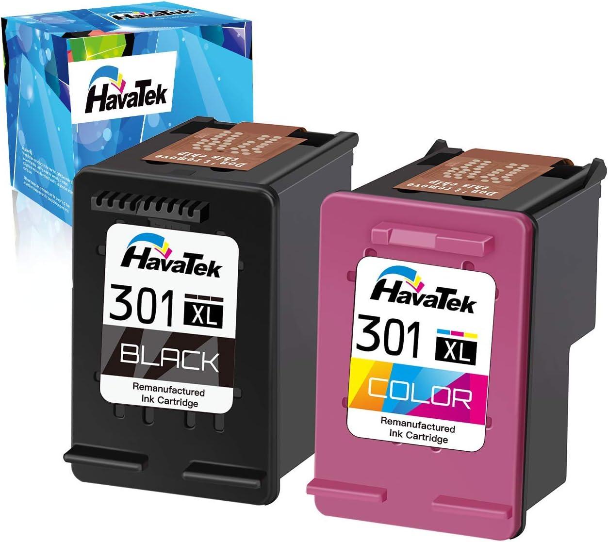 HavaTek 301XL - Cartuchos de tinta refabricados para HP 301 XL con ...