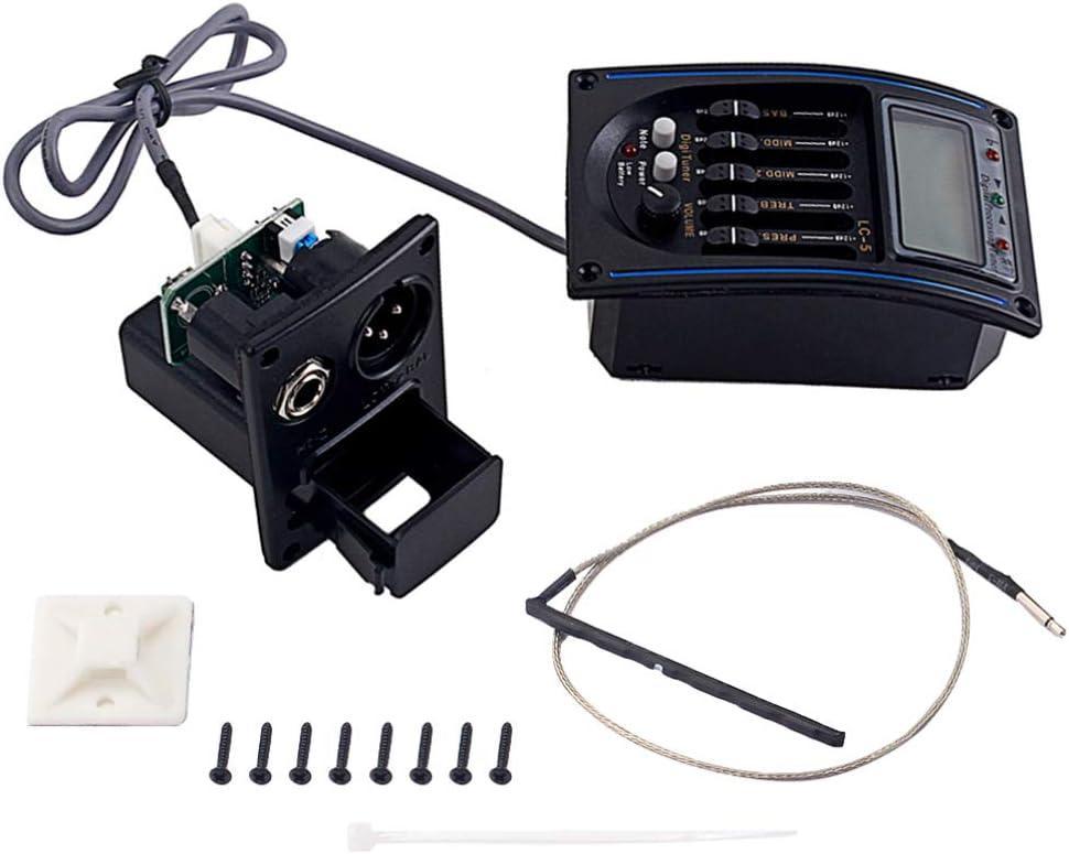 SUPVOX Ecualizador de 5 Bandas Pre-Amplificador Ecualizador Pickup ...