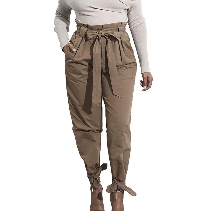 Mujer Pantalones Lápiz - Color Sólido Cintura Elástico Pantalón con Pretina  Moda Cintura Alta Bolsillos Casual Capris Pies Estrechos Leggings Pantalones  ... 60503074297