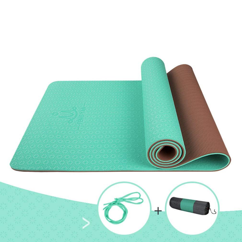SXXDERTY-tappeto Estera de Yoga de Dos Colores con cinturón ...