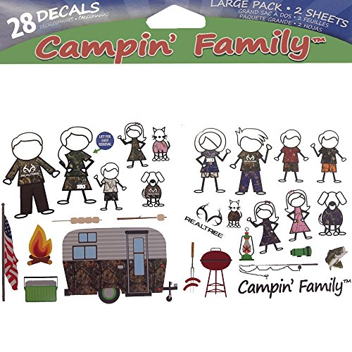 28pc Camo Family Stick People Family Realtree Camo Graphics Camouflage Brand Auto Car Truck SUV Vehicle Garage Home Office School Decal Set