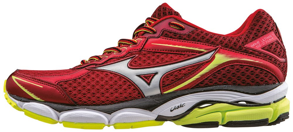 Mizuno Herren Wave Ultima Trainingsschuhe, Gelb, 41 EU  44 EU|Rosso (Chinesered/Silver/Safetyyellow)