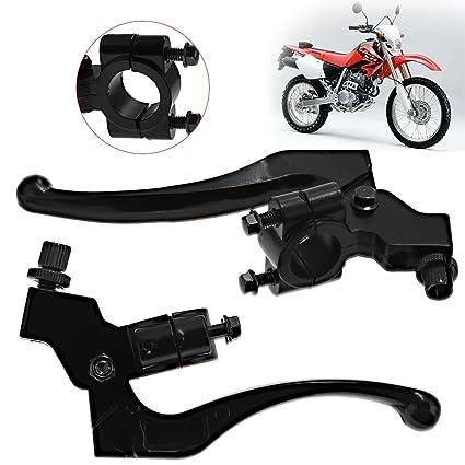 Zreneyfex Left /& Right Brake Clutch Lever Perch Motorcycle for Honda CR100 C200 CR250 CR80R CRF100F CRF250L CRF450R XL100 XL250 XR100 XR250