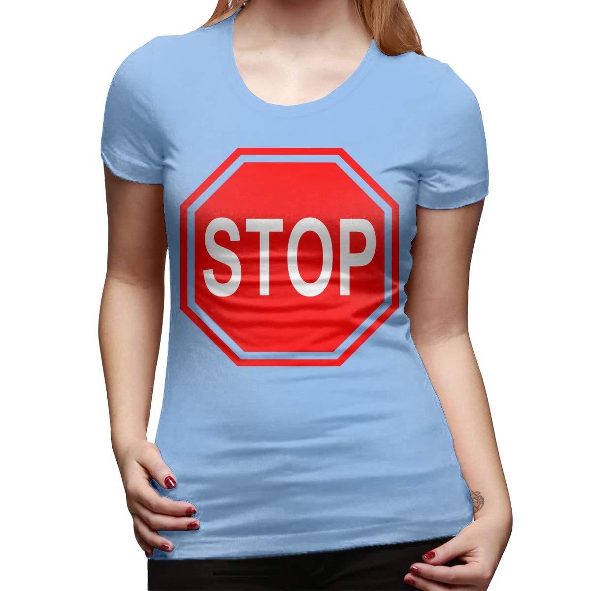 Hayden Harpergfxnjnjn Stop Womens Short Sleeve T Shirt Color Sky Blue Size 29